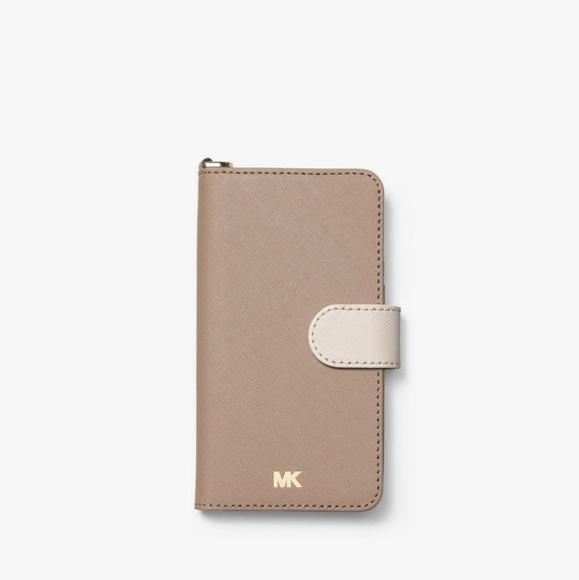 b949f46251bb Michael Kors Accessories | Colorblock Leather Folio Casestrap | Poshmark
